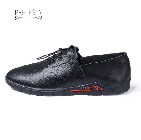 Prelesty Luxury Wedding Leather Men Dress Shoes Brogues Derbies Business Office Style