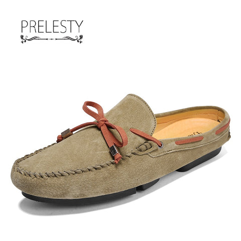 Summer Men Driving Shoe Backless Loafer Breathable High Quality
