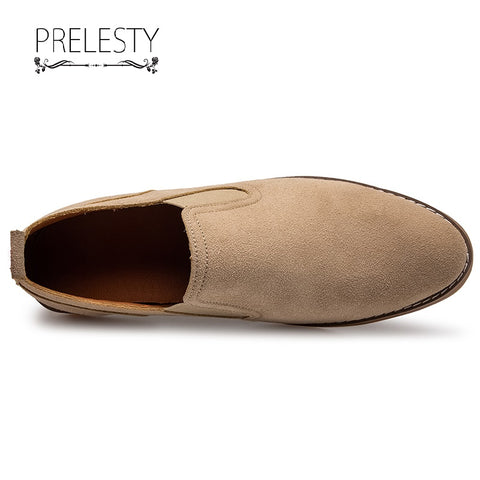 Prelesty Casual Men's Formal Slip On Shoes Cowboy Suede Style Comfortable