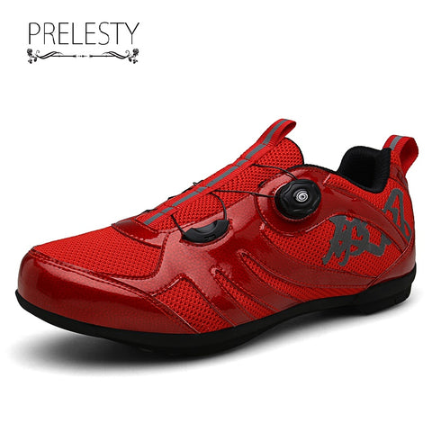 Prelesty Cycling Shoes Men Sneakers Mountain Bike Shoes Bicycle Athletic Racing Comfortable