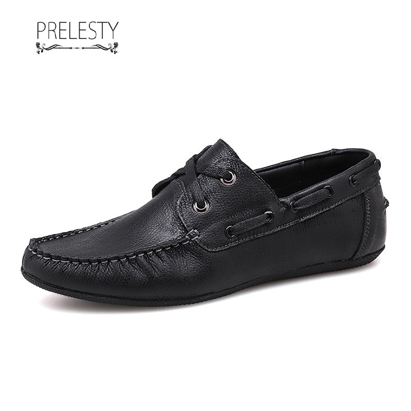 Prelesty Winter Men Driving Boat Shoes Loafers Breathable Top Sider
