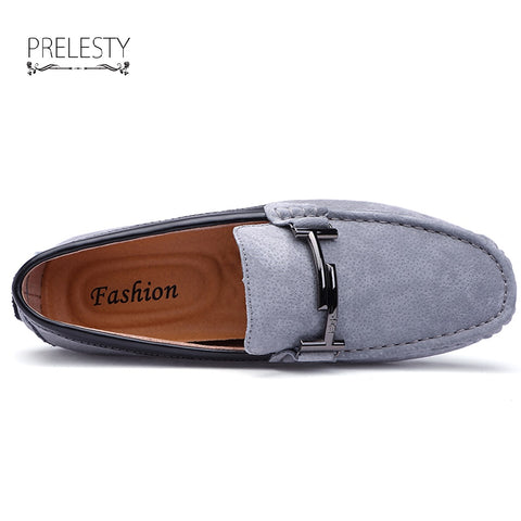 Elegant Horsebit Loafers Urban Men Driving Shoes Luxury