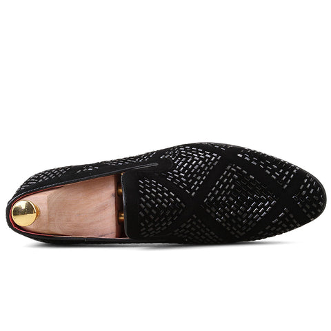 Men's Velvet Smoking Slipper