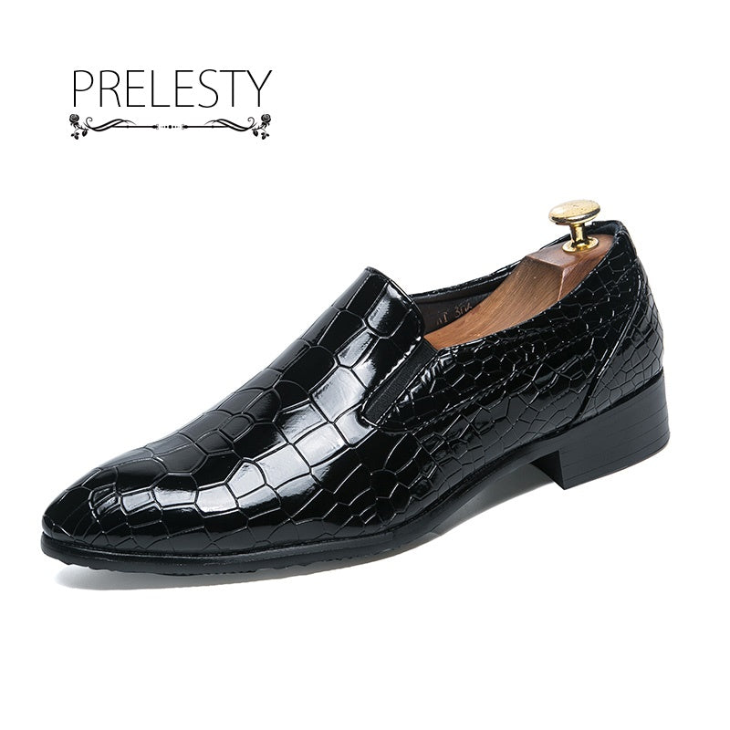 Crocodile Men Oxford Shoes Dress Slip On