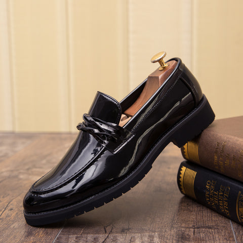 Prelesty Formal Men Dress Shoes Office Party Tassel Shining Cool Business