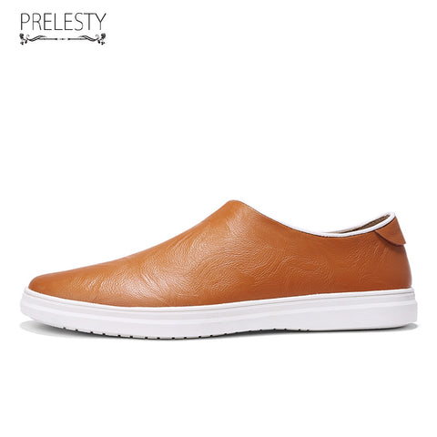 New Leather Shoes Men Casual Genuine Cow Leather Loafers Slip On Formal Driving Soft Footwear