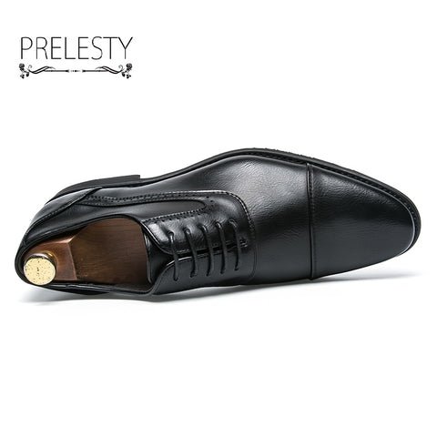 Bige Size 38~48 Luxury Men Dress Shoes Oxford Man Formal Business Cool Handsome Gentleman Footwear