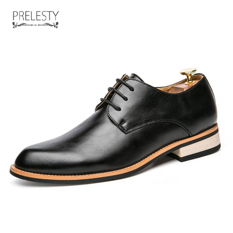 Luxury Men's Pointed Toe Dress Shoes Brogue Party Wedding Oxford Business Stylist Handsome