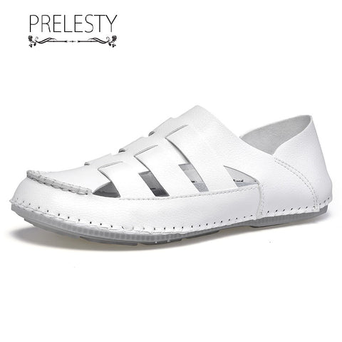 Prelesty Big Size Summer Comfortable Good Soft Men Sandal Shoes Beach Casual Hollow Out Breathable Design