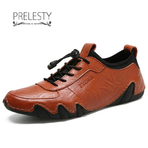 Prelesty Mens Casual Loafers Shoes Autumn Driving Shoes Mocassin Classic