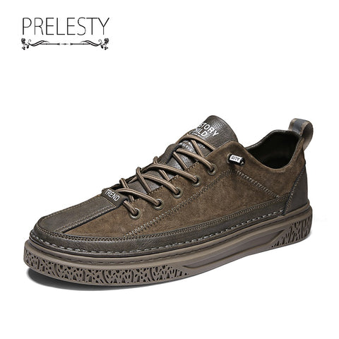 Prelesty Luxury Fashion Men Formal Brogues Shoes Business Wedding Party Comfortable Classic