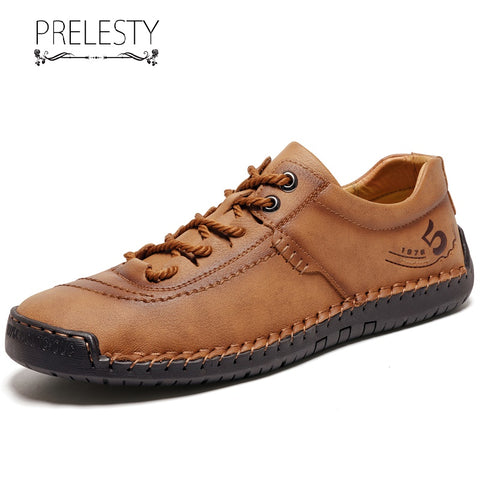 Prelesty Big Size 38-48 High Quality Classic Men Dress Shoes Formal Handmade Comfortable Cow Leather