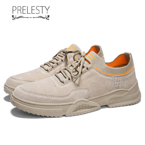 Prelesty Fashion Durable Cool Men Formal Socks Shoes Lace Up Design Party Business Leather Rubber Outsole