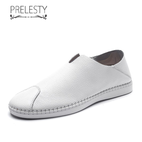 Prelesty Big Size 38-47 Summer Men Driving Shoes Fashion Casual Moccasin Genuine Leather Lightweight Design