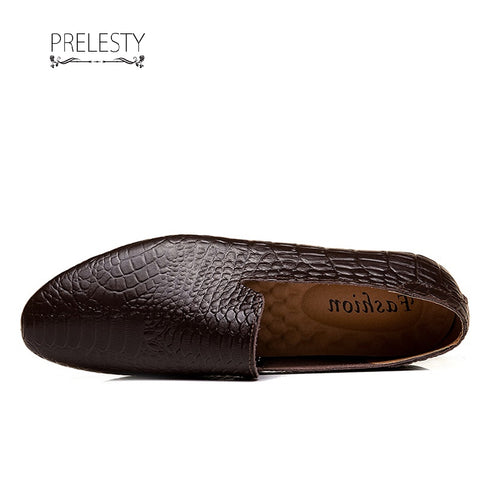 Prelesty Men Formal Crocodile Shoes Smart Party Cool Leather Dress Business Handsome