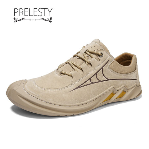 Prelesty Fashion Men Formal Shoes Business Soft Genuine Cow Leather High Quality Comfortable