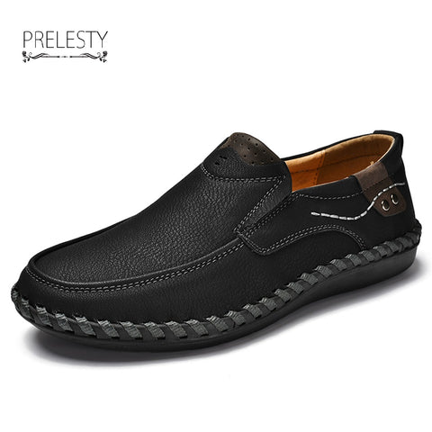 Retro Handmade Shoes Men Casual Genuine Leather Oxfords