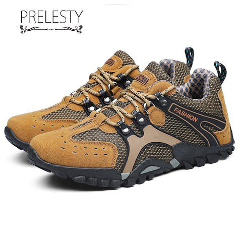 Prelesty New Summer Fashion Cool Durable Soft Men Hiking Shoes Breathable Outdoor Clothing