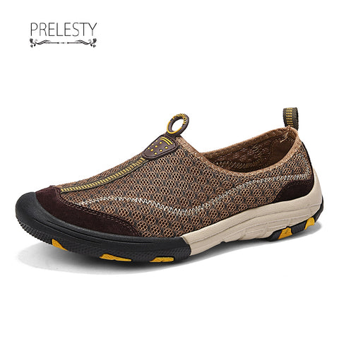 Prelesty Men Summer Hiking Shoes Climbing Waterproof Outdoor Trekking Sneaker For Man