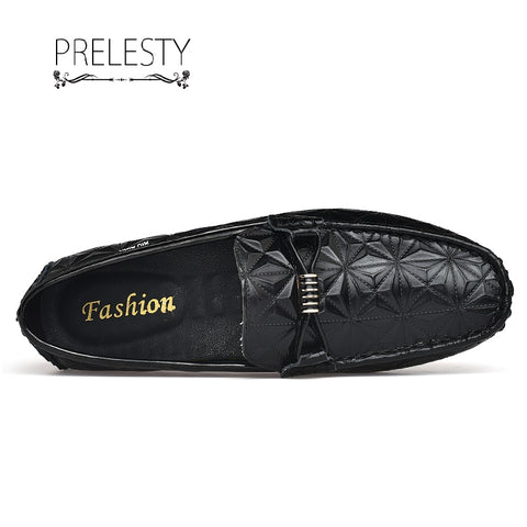 Prelesty Plus Size Swag Cool Men Casual Loafer Gentleman Fashion Party Plaid Pattern