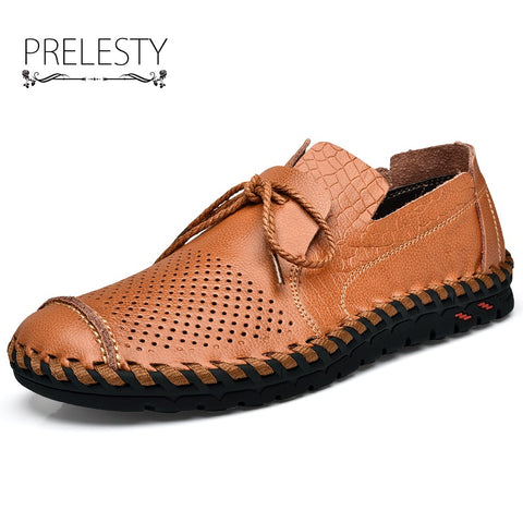 Men's Genuine Leather Round Toe Shoes