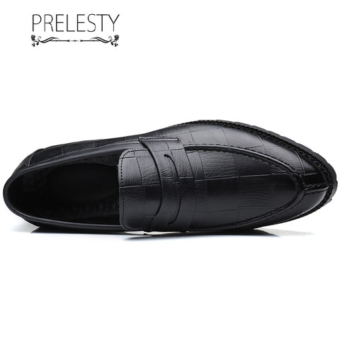Prelesty Elegant Men Formal Office Slip On Shoes Business Light Soft Comfortable