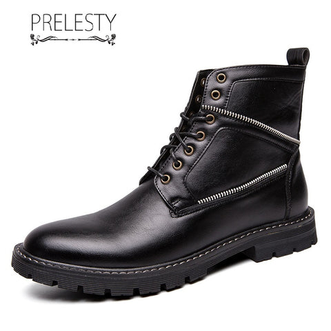 Prelesty New Classic Fashion Men Desert Boots Shoes High Tops Handsome Breathable