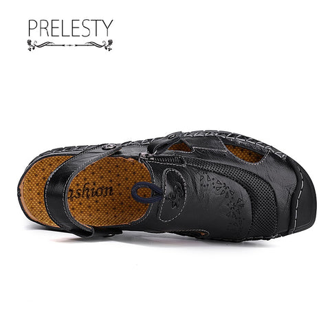Prelesty Plus Size Men Summer Sandal Shoes Beach Buckle Breathable Comfortable Wear Lightweight Outdoor