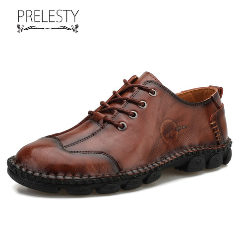 Prelesty Big Size 39-48 Luxury High Quality Men Dress Shoes Formal Comfortable Cow Leather Handsome