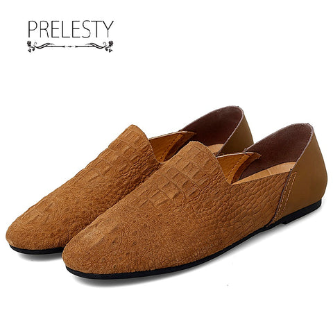 Prelesty Classic Handsome Men Formal Office Loafer Shoes Smart Party Business Driving Moccasin Light Soft