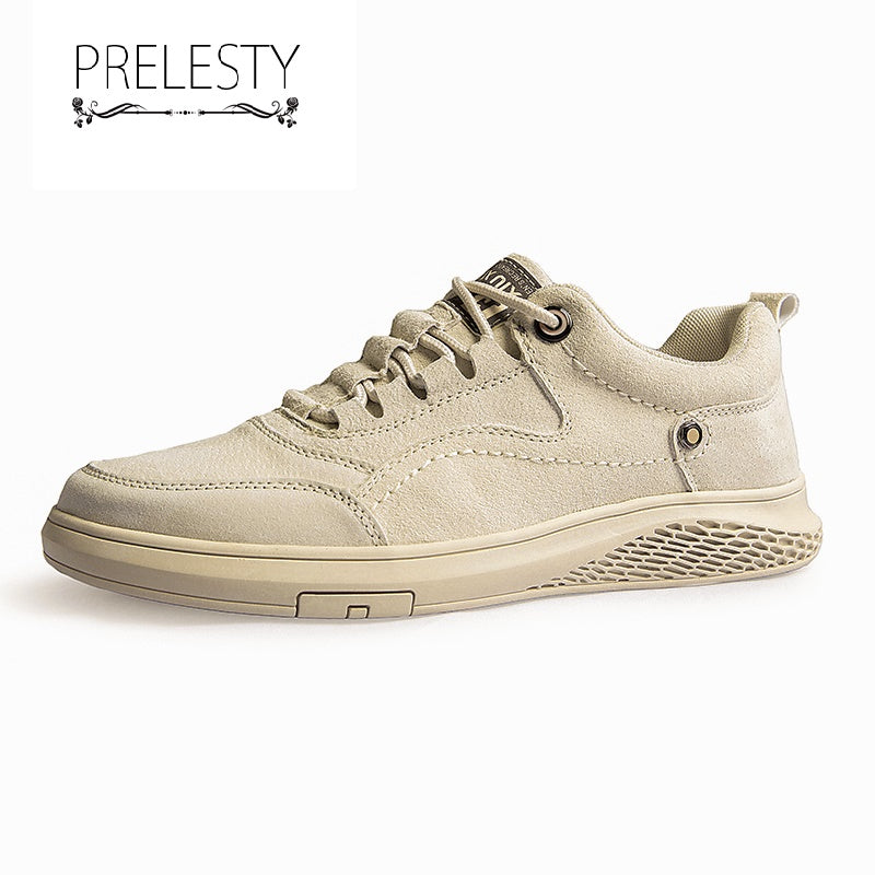 Prelesty Spring High Quality Men Formal Office Shoes Brogues Smart Party Business Soft Leather