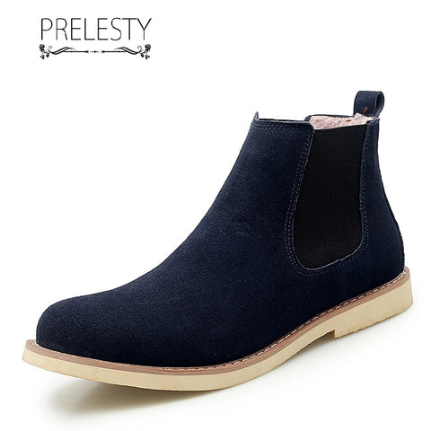 Prelesty Classic Fashion Men Chelsea Boots Shoes High Tops Handsome Breathable