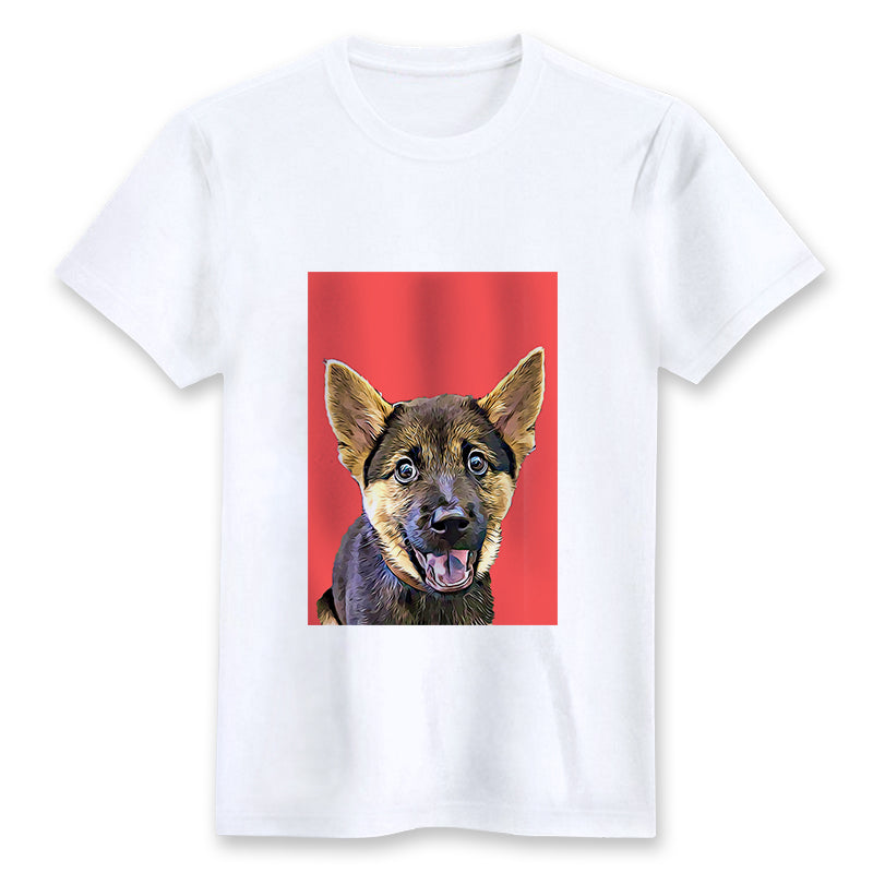 Custom T-shirt - Poppy Red