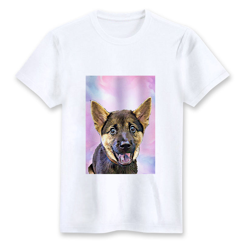 Custom T-shirt - Soft Watercolor Paint