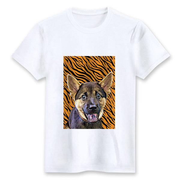 Custom T-shirt - Tiger Print