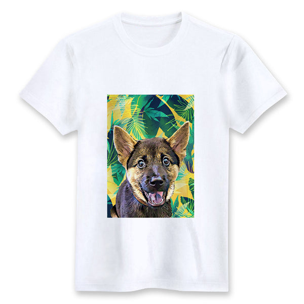 Custom T-shirt - Yellow Tropical