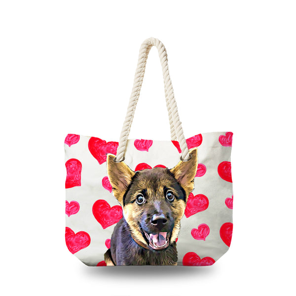 Canvas Bag - Hearts