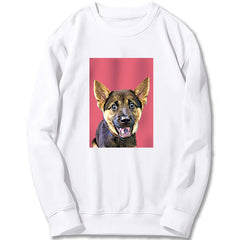 Custom Sweatshirt - Light Magenta Red