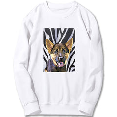Custom Sweatshirt - Zebra Pattern