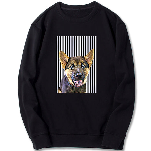 Custom Sweatshirt - Basic Black Stripes