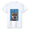 Custom T-shirt - Blue And Yellow Leopard Pattern