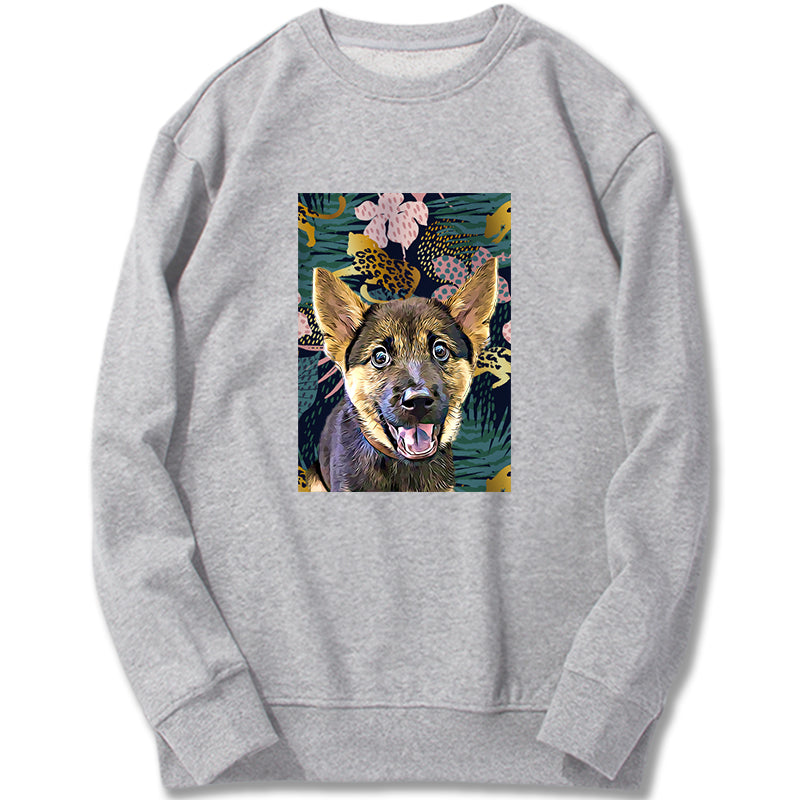 Custom Sweatshirt - Leopards Jungle