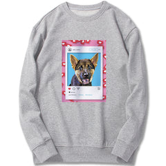 Custom Sweatshirt - Likes For Likes in Pink