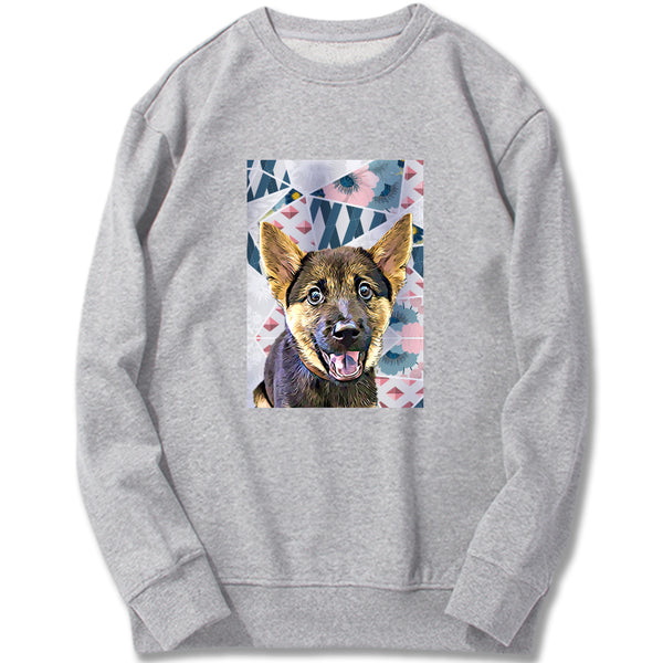 Custom Sweatshirt - Geometrical Floral