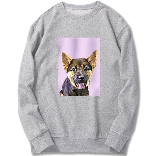 Custom Sweatshirt - Light Pink