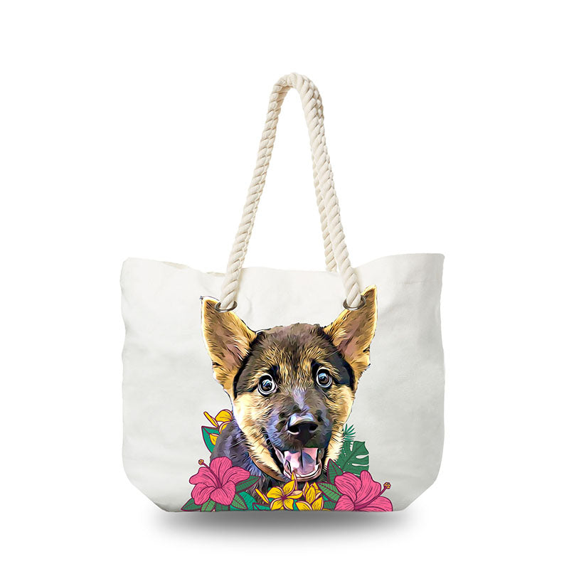 Canvas Bag - I Love Flowers