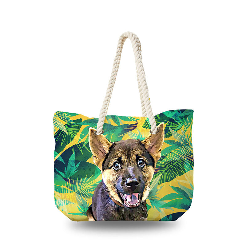 Canvas Bag - Yellow Tropical