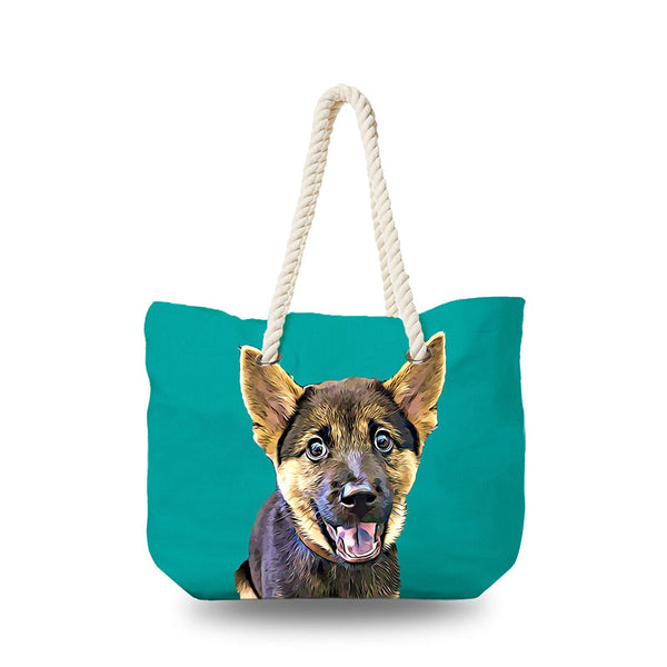 Canvas Bag - Blue Green