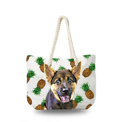 Canvas Bag - Golden Pinapple