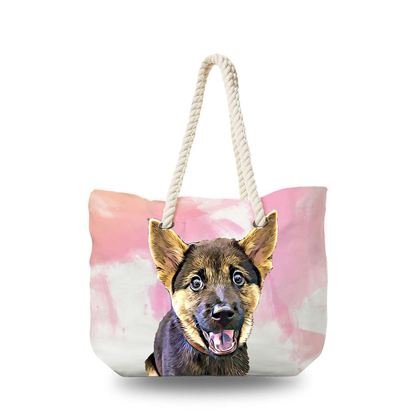 Canvas Bag - Pink Splash